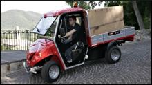 Elektro-Pritschenwagen Alkè mit langer Ladepritsche