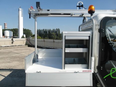 elektro transporter mit leitergestell. Black Bedroom Furniture Sets. Home Design Ideas