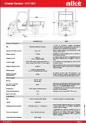 Technische Angaben Alke ATX110E