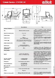 Technische Angaben Alke ATX210E muellabfuhr