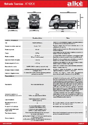 Technische Angaben Alke XT420E