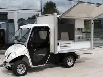 Foodtruck und Pizzawagen für den mobilen Straßenverkauf von Pizza