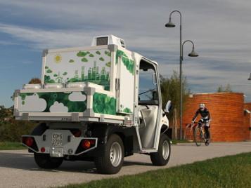Foodtruck und Eiswagen für den mobilen Straßenverkauf von Eiscreme