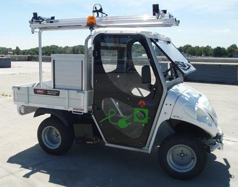 Elektro-Transporter Alkè mit Leitergestell