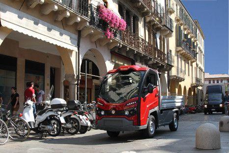 Nachhaltige, städtische Logistik - Elektro-Truck  in verkehrsberuhigten Zonen