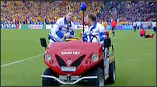 Europameisterschaften 2008 - Alkè Elektro Golfwagen mit Rettungsausstattung