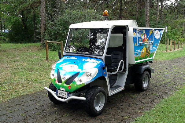 turistic village waste collection electric vehicles