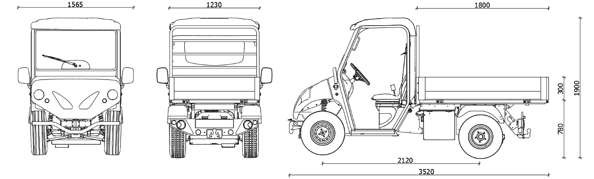 alke vehicles with lithium batteries dimensions