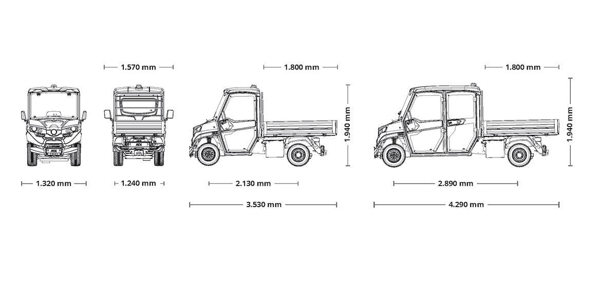 Atec Explosion Proof Vehicles - dimensions