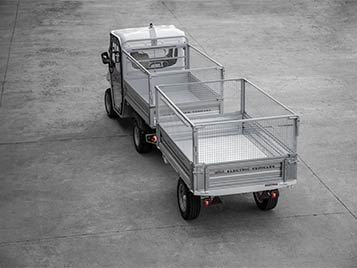Double trailer with mesh sides