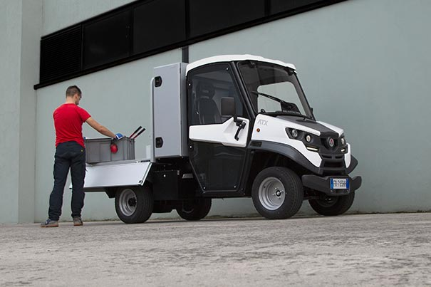 Alke' electric utilitary with rear cab box