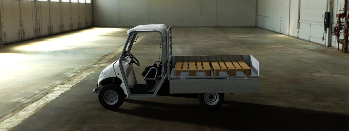 ATX range - Zero emissions vehicles with loading bed and pallet