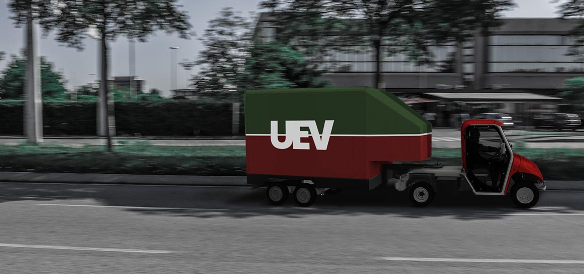 Electric vans with semi-trailer - High load volume
