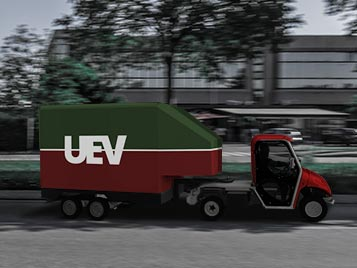 Electric vans with semi-trailer