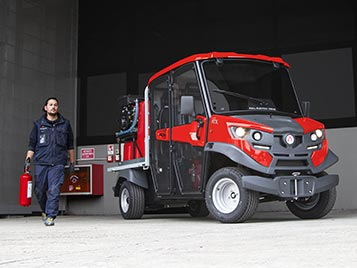 Firefighter utility vehicles