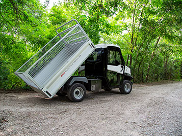 Tipper body and steel mesh sides