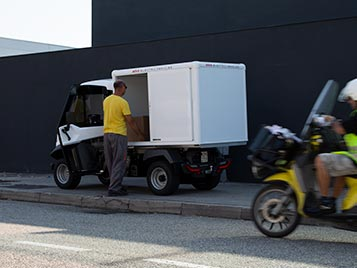 Small electric delivery van