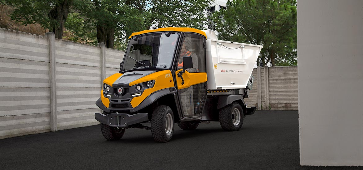 Waste collection electric utility vehicle Alke'