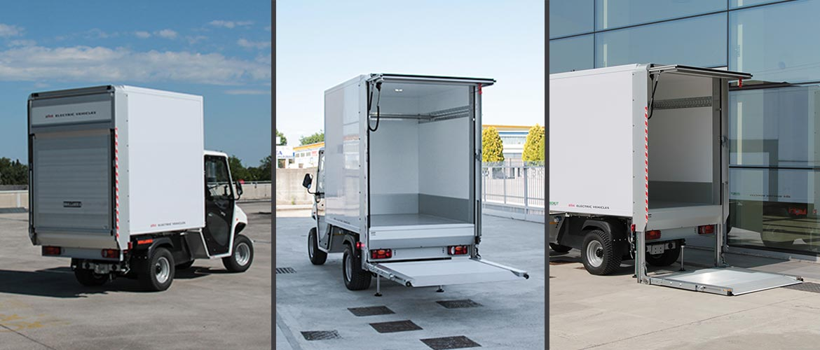Electric cargo van with tail lift Alke'