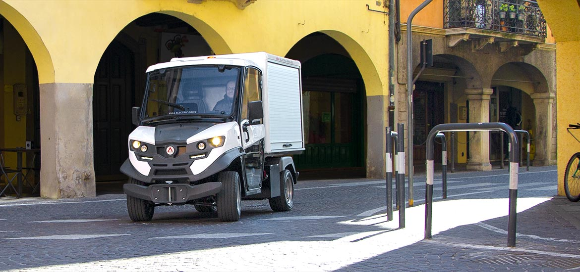 Electric vehicles for logistics Alke' - Freight distribution and delivery zero emission van