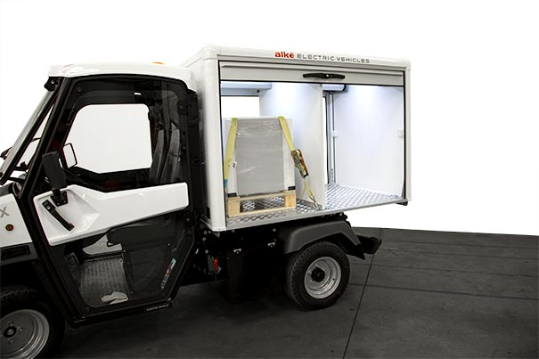 Electric van for luggage and goods transportation