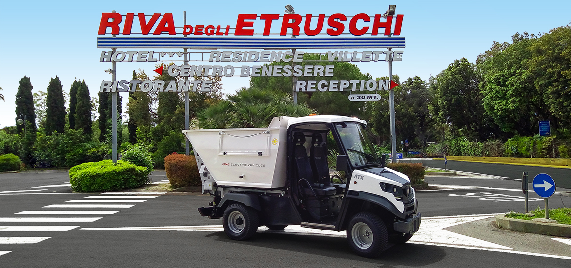 Electric utility vehicles for camping maintenance Alke' - For cleaning, and waste collection activities