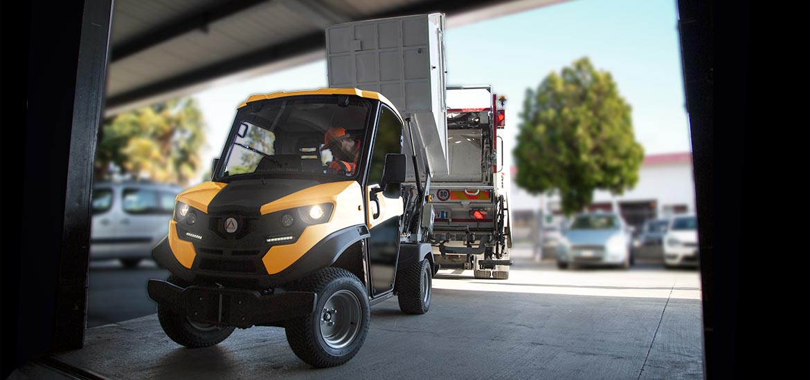 Waste collection electric vehicle - Regenerative braking system