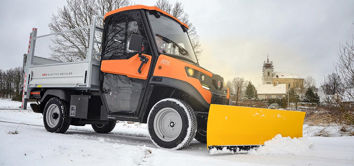 ALKE' electric vehicles with Snowplough