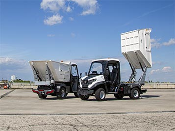 Solid Waste vehicles with bin lift system
