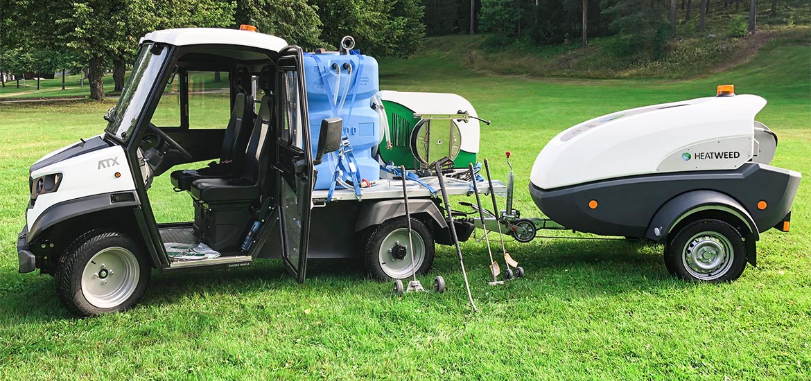 Electric utility vehicles for golf courses
