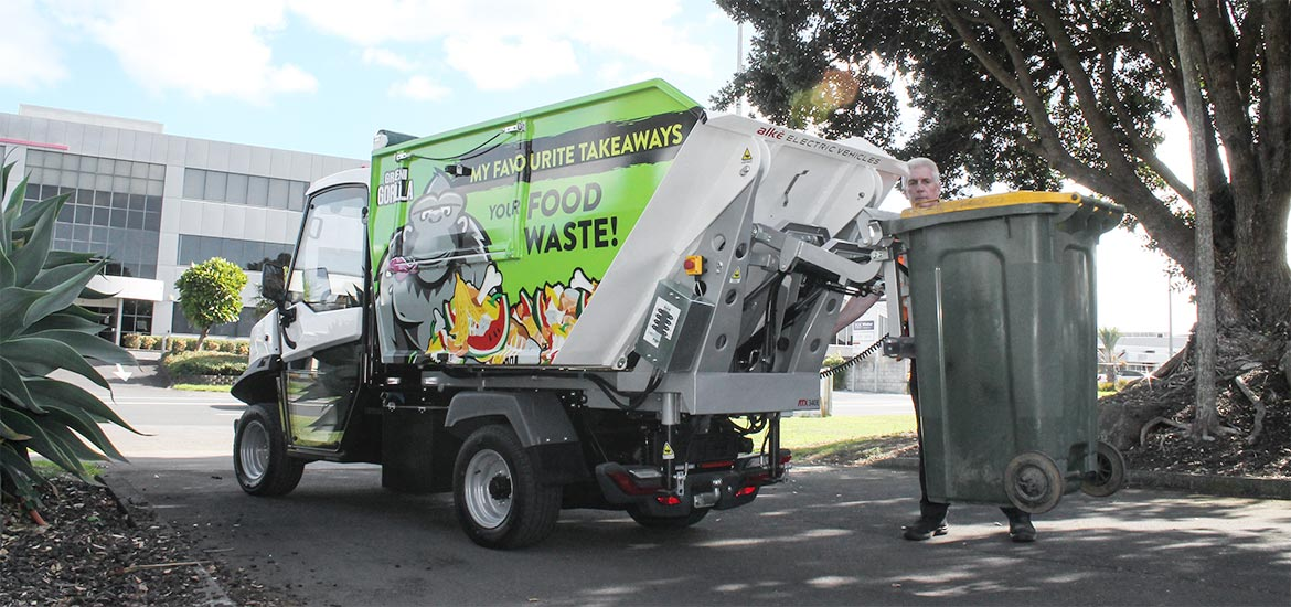 Electric advertising vehicle for waste collection Alke'