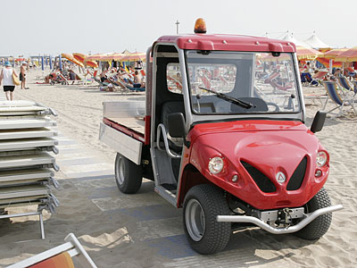 electric vehicle on beach