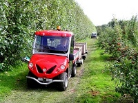 Agricultural vehicles - apple harvest