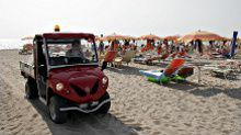 electric vehicles on the beach