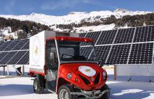 Ecological Snow Cars for low temperatures at St Moritz Polo Club