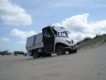 beach vehicle on uphill
