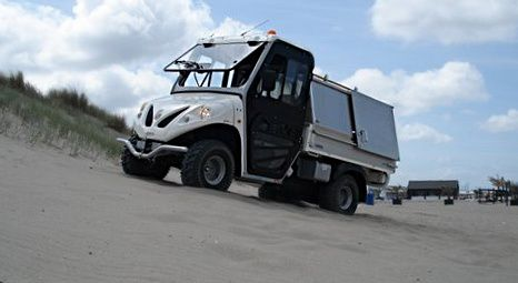 slope - electric vehicles test - ALKE - waste collection vehicles