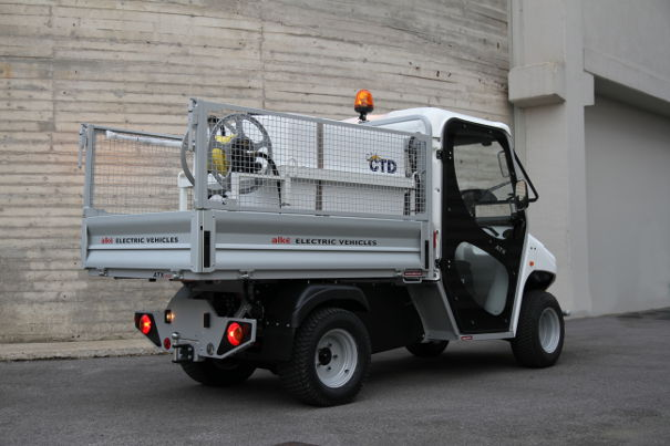 Electric vehicles with tank and sprayer