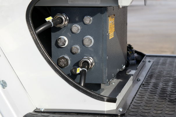 On our explosion proof electric vehicles, the electronic components are housed within a certified ATEX, EX, IECEx casing