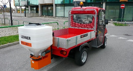 Salt spreader for electric vehicles ALKE'